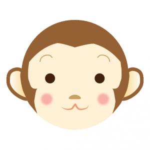 算数 2年 算数 : 猿(さる)」のイラスト ...