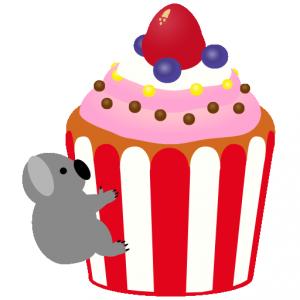 カップケーキ_コアラ