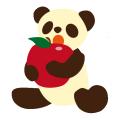 パンダとりんご