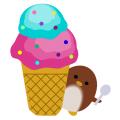 ぺんぎん_アイスクリーム