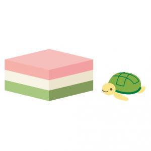 かめ_菱餅