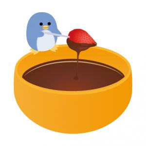 ぺんぎん_チョコレートフォンデュ